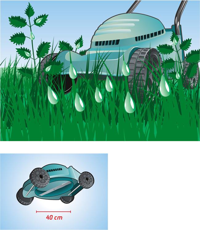 Illustration Rasenmäher Bosch
