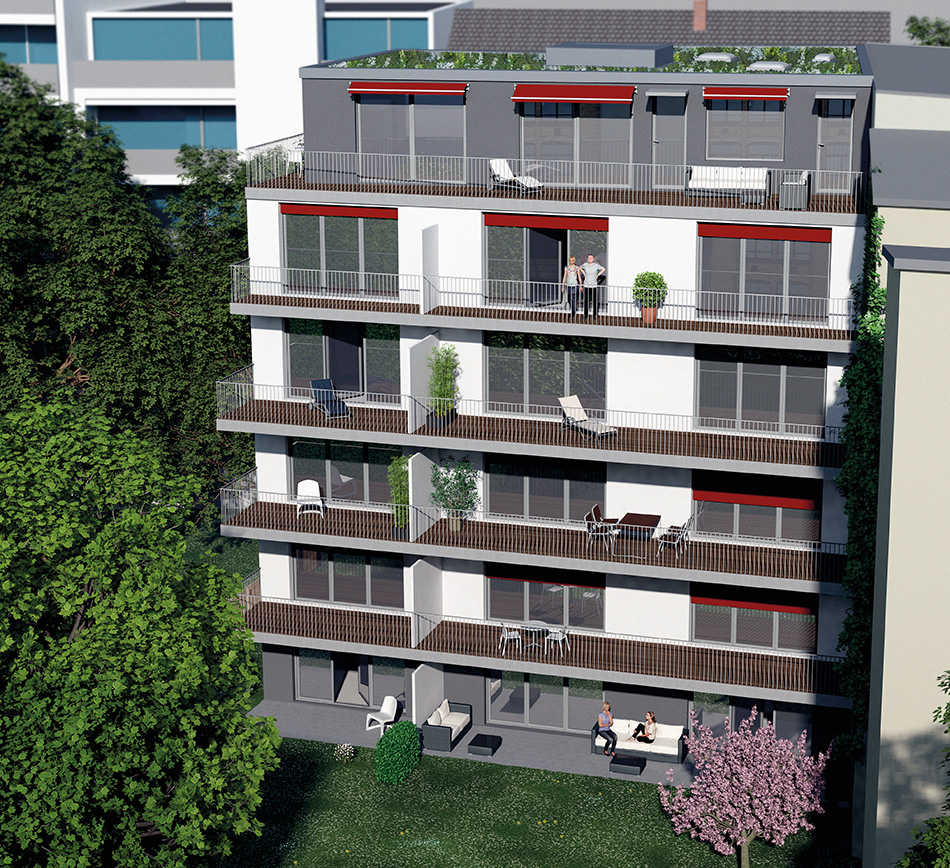 3D Architekturrendering Rungestrasse 13 Berlin