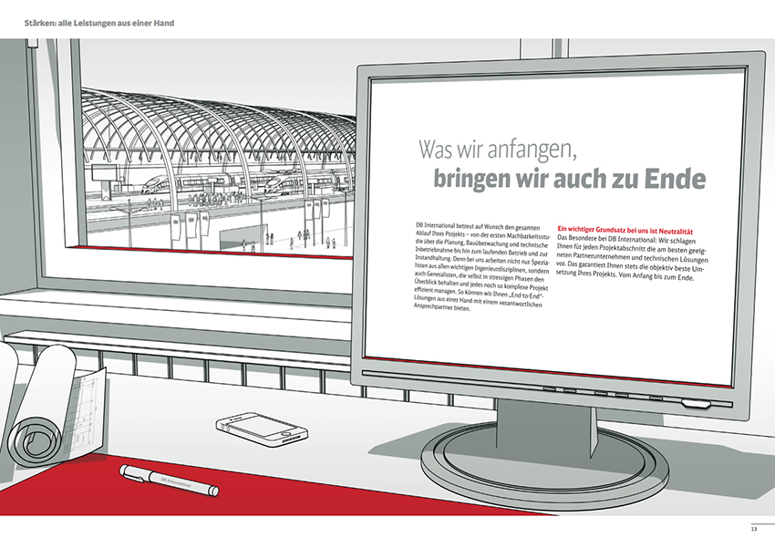 Illustration Bahnhof
