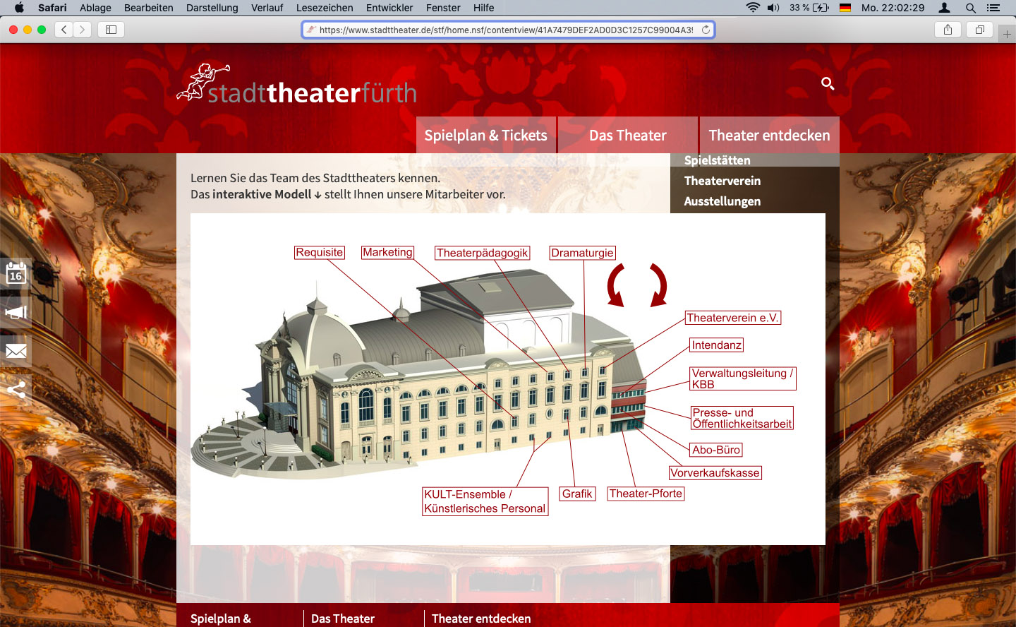 screenshot www.stadttheater.de