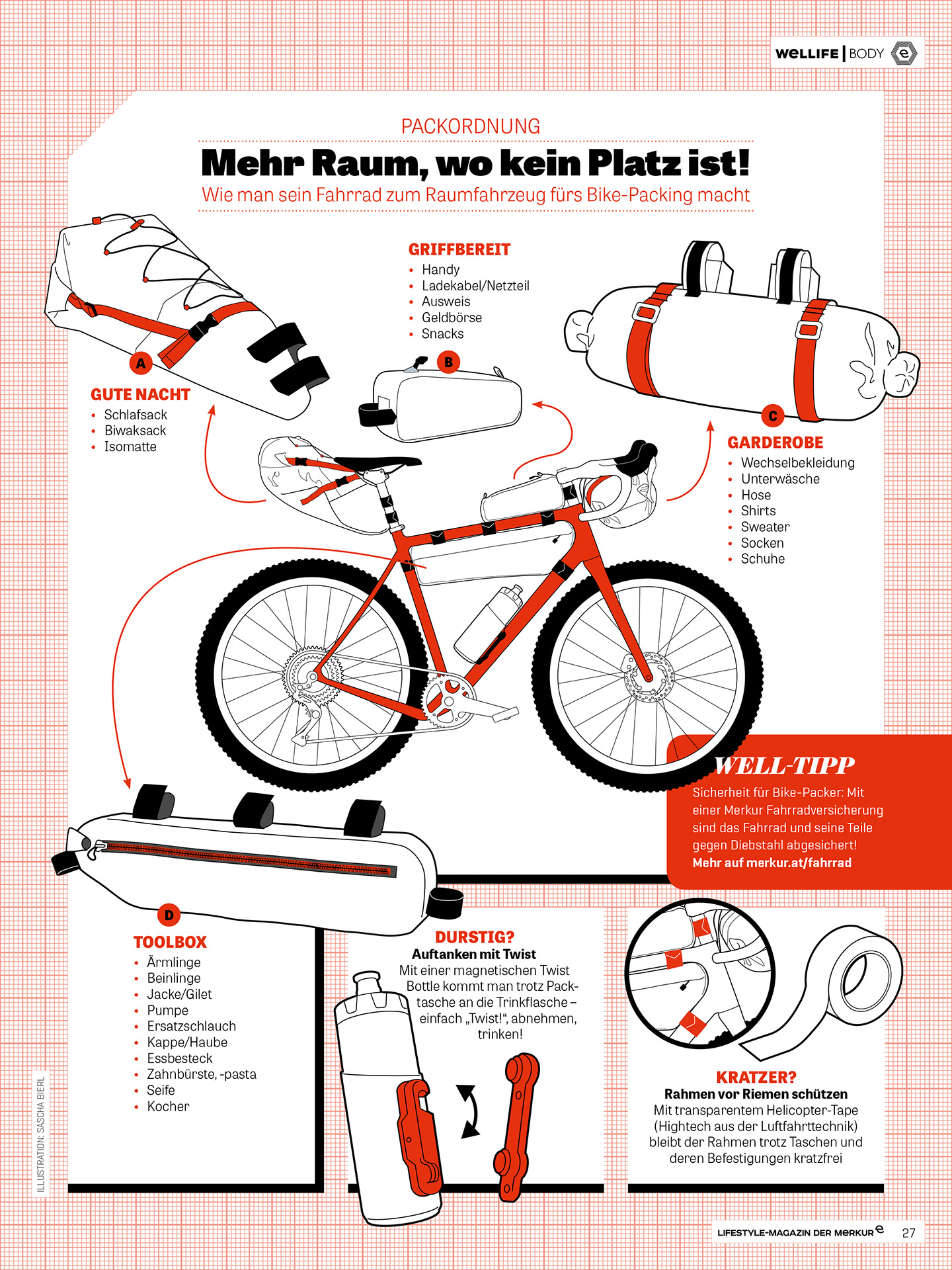 Illustration Bike-Packing