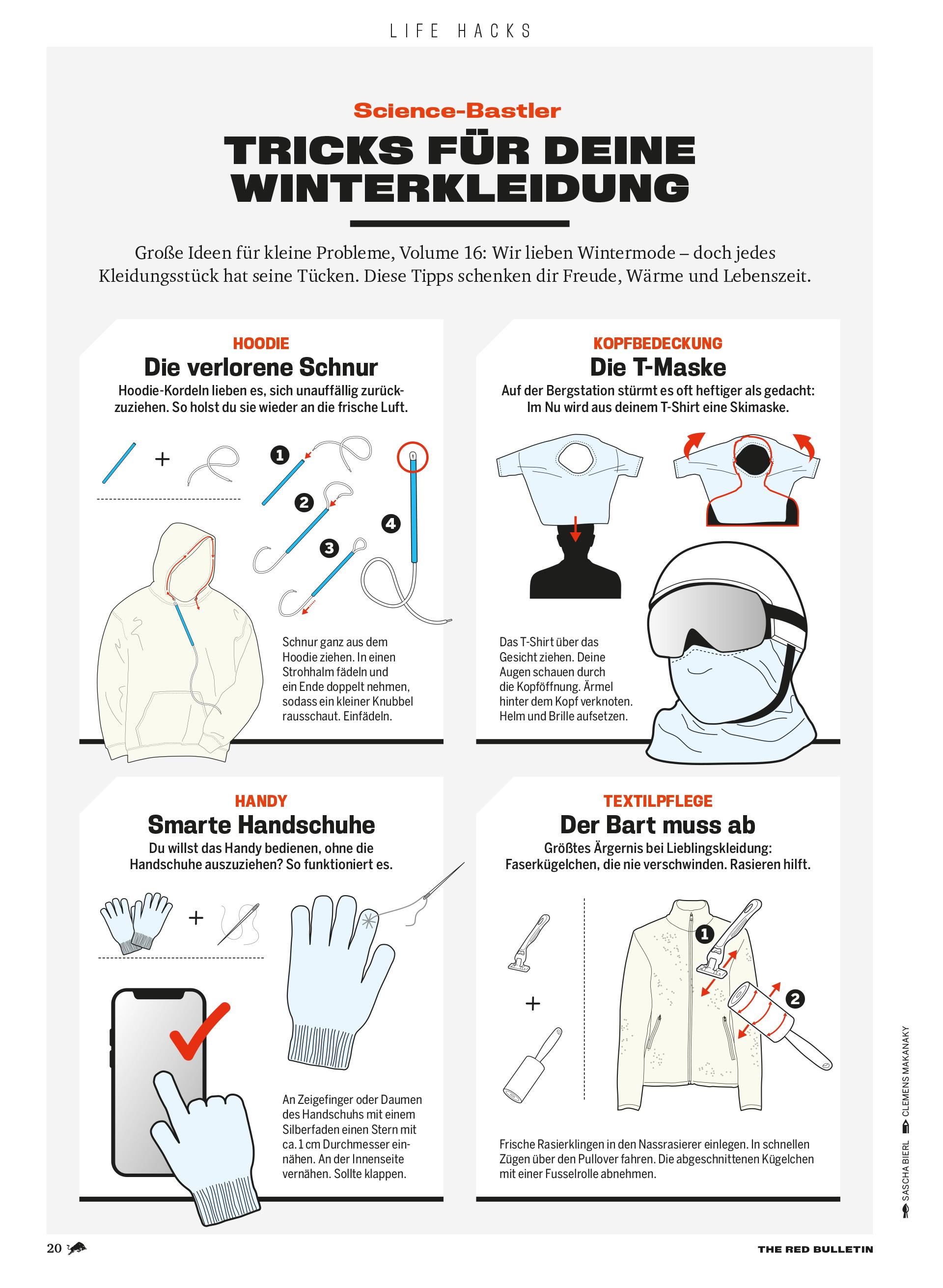 Life Hacks Winterkleidung Skifahren