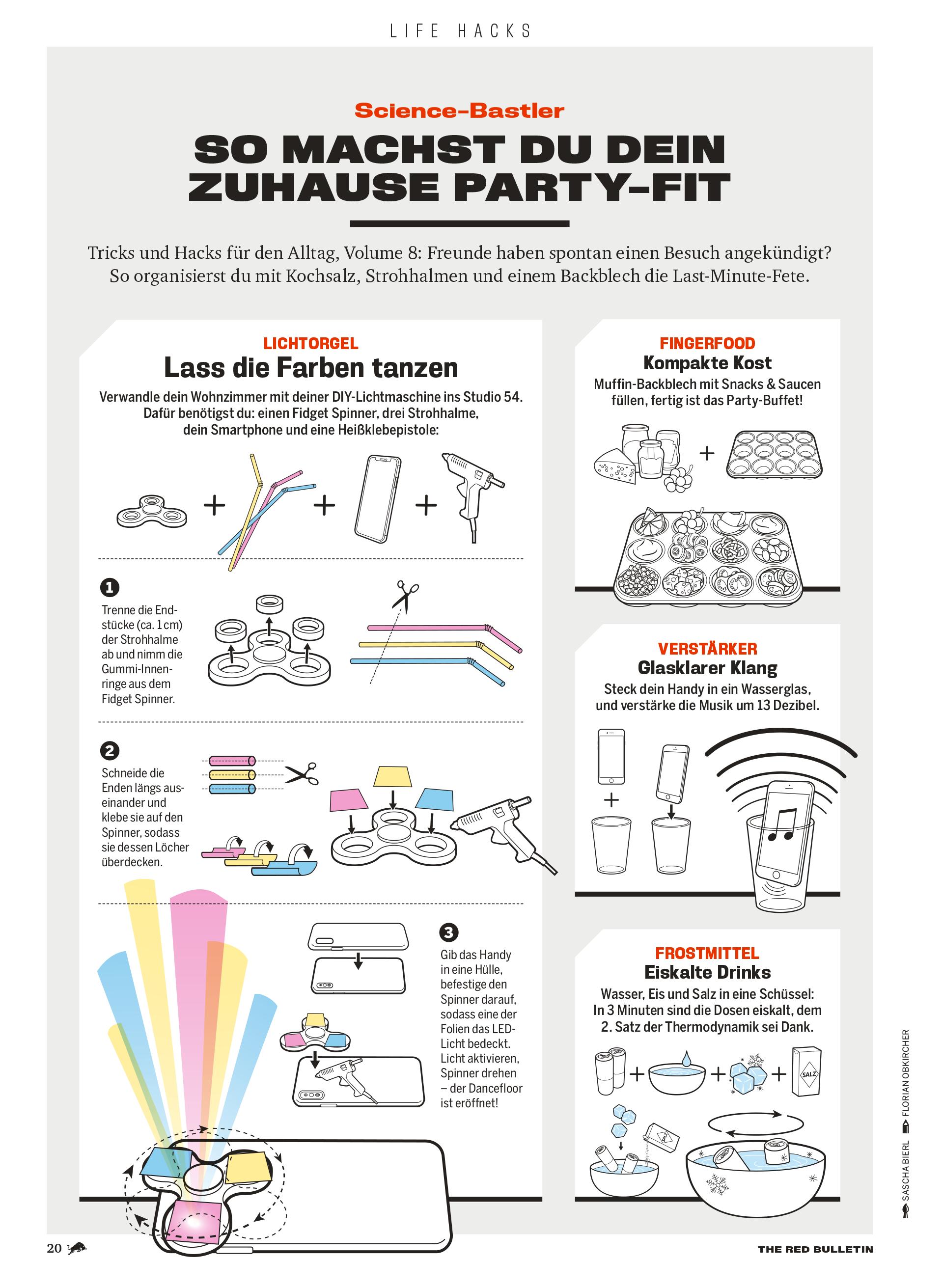 Illustration Kolumne Life Hacks Party